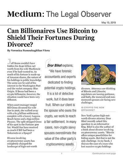 Can Billionaires Use Bitcoin to Shield Their Fortunes During Divorce?