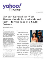 Lawyer: Kardashian-West divorce should be 'amicable and fair' — for the sake of a $2.1B fortune