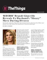 "'RHOBH' Brandi Glanville Reveals Ex Husband's ""Sleazy"" Move During Divorce"