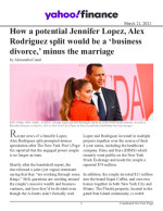 How a potential Jennifer Lopez, Alex Rodriguez split would be a 'business divorce,' minus the marriage